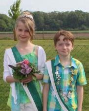 Kinderkönigspaar Linus Schlottmann & Merja Vahrenkamp