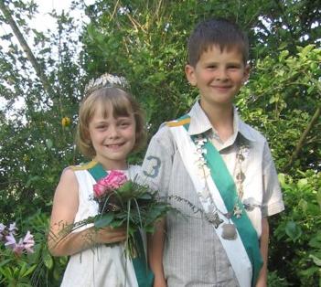 Kinderkönigspaar Malte Hackemeier & Nina Wortmann