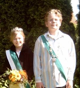Kinderkönigspaar Mike Siemering & Alenau Dunau