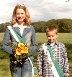 Kinderkönigspaar Max Vahrenkamp & Carolin Griepenstroh