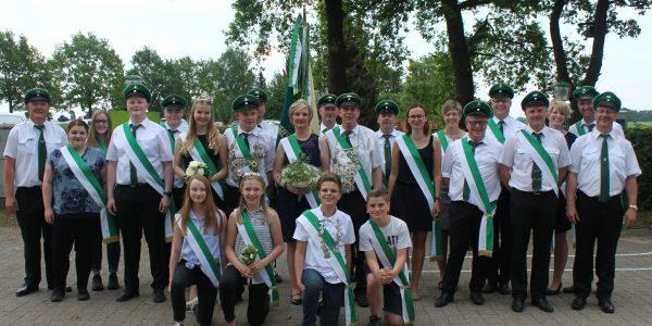 Königspaar Kandy & Katja May und Jungkönigspaar Lauritz Brokmann & Merja Vahrenkamp